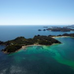 The stunning Bay of Islands from the air